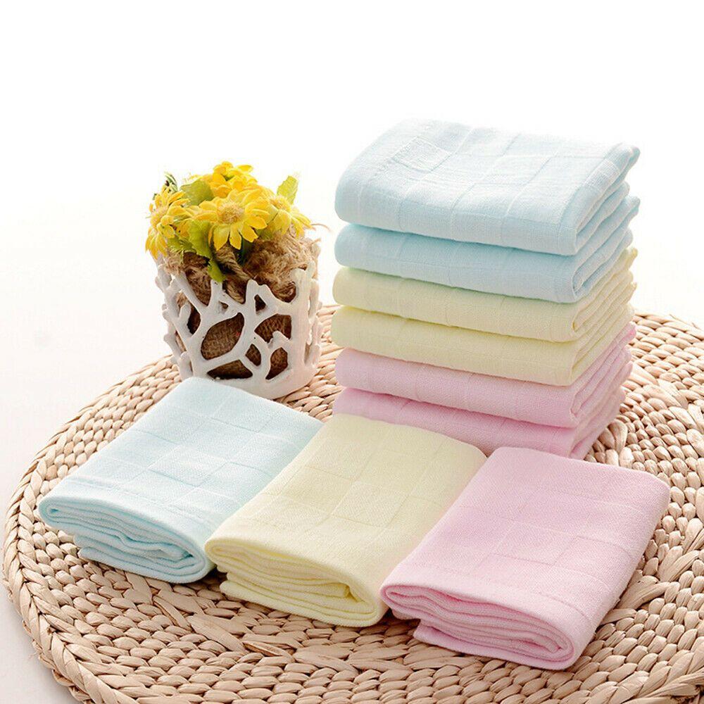 Cotton Baby Infant Newborn Bath Towel Washcloth Feeding Wipe Cloth Healthy Soft