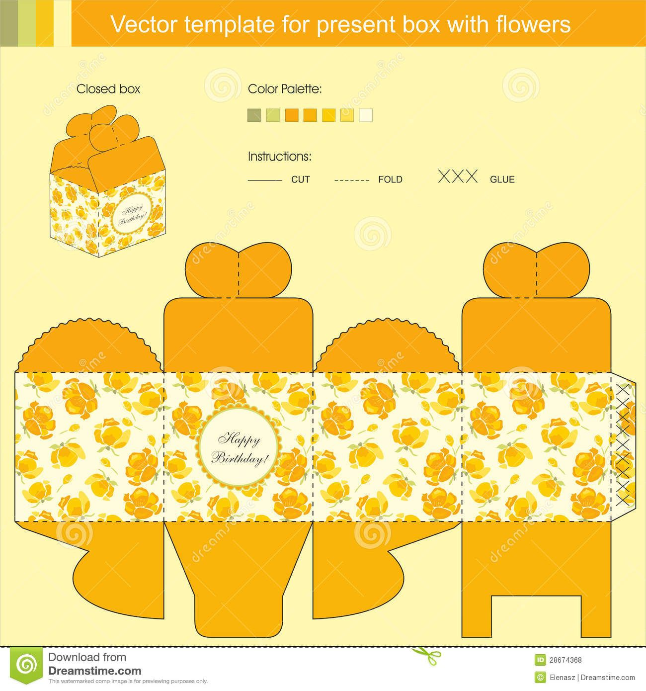 box templates | Box, Bags, Envelope Silhouettes, Vectors, Clipart ...