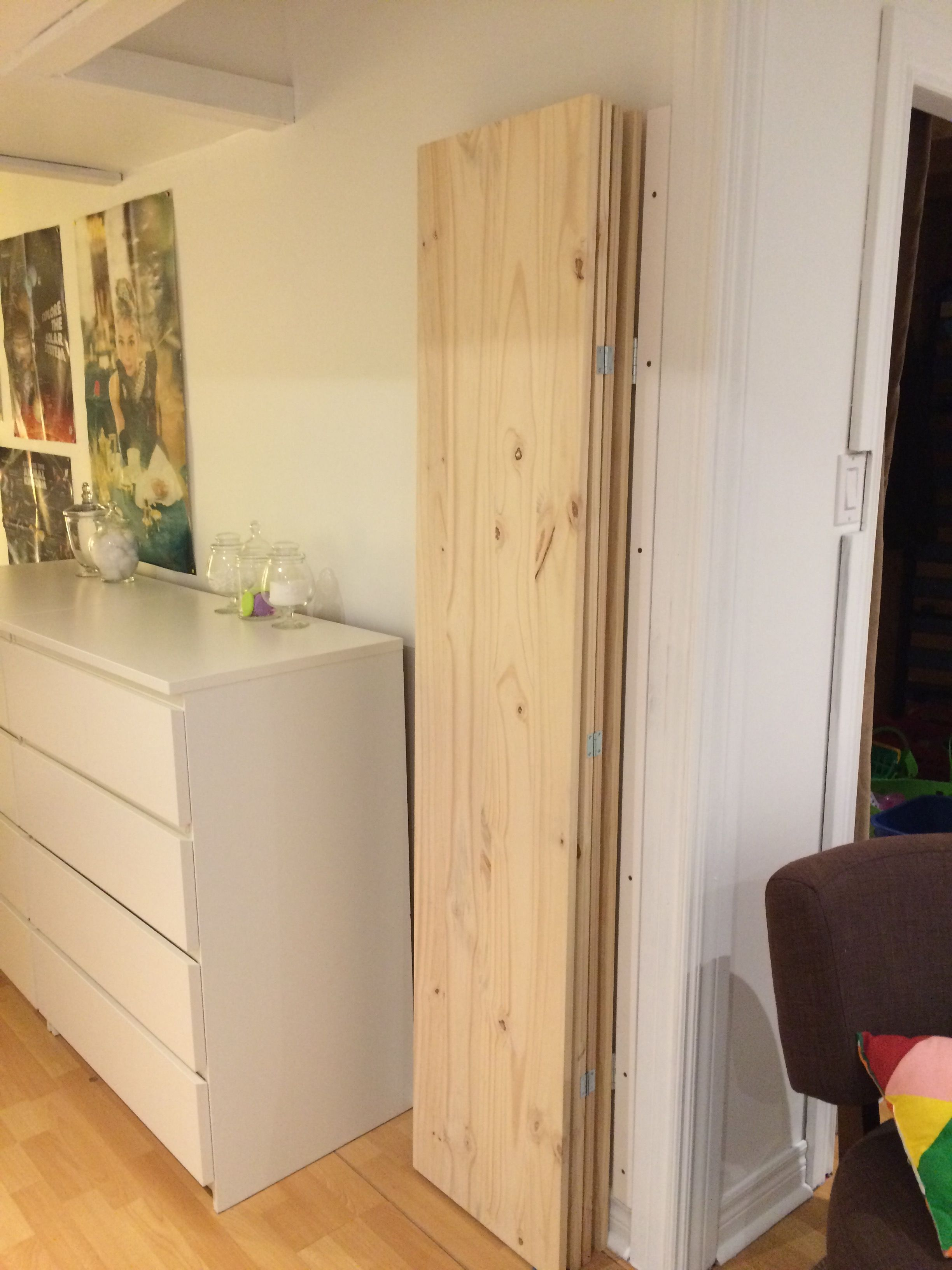 Room divider - folded. Open when you want the separation.   Divider ...