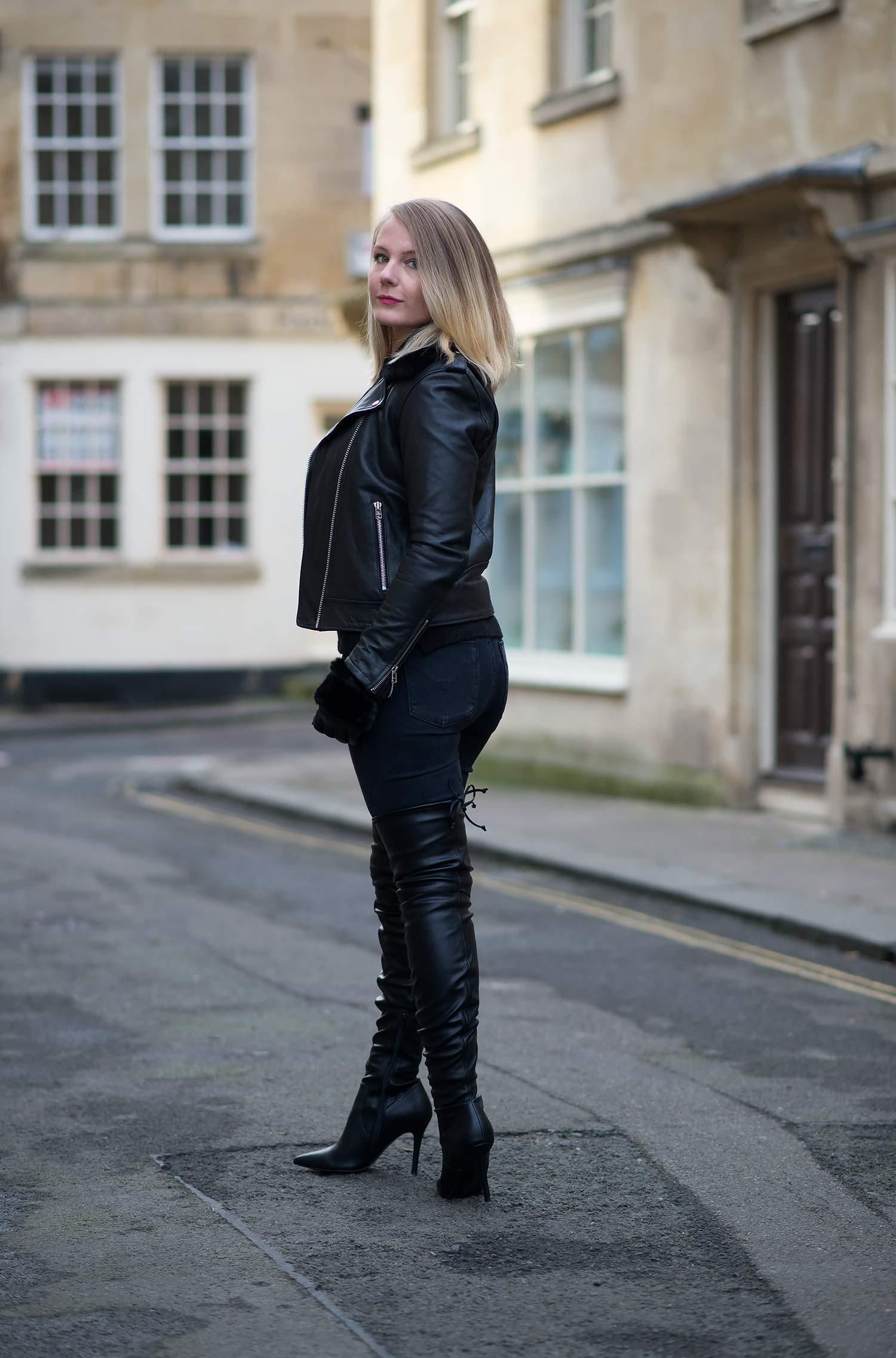 63644a7ac15da lorna burford leather thigh high boots leather jacket fashion blogger