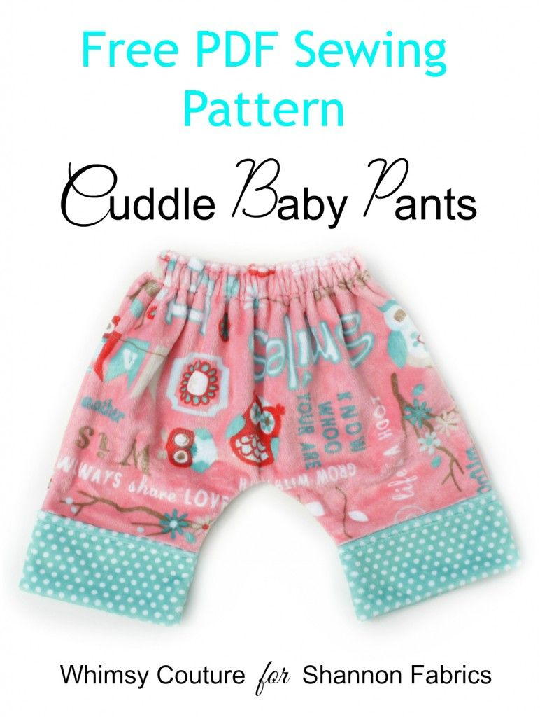 Free PDF Sewing Pattern For Comfy Cuddle Baby Pants | Free Sewing ...