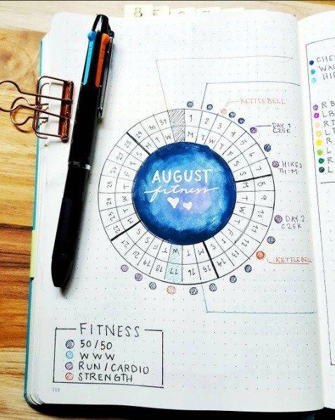 Calendar Wheel Bullet Journal : Calendar wheel inspirations bullet journal