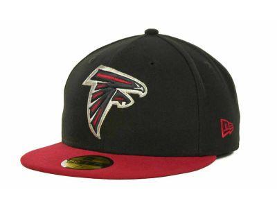 official photos 397dd bcfdb Atlanta Falcons NFL Black Team 59FIFTY Cap Hats
