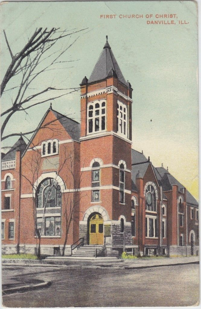 Danville Il First Church Of Christ Postcard 1908