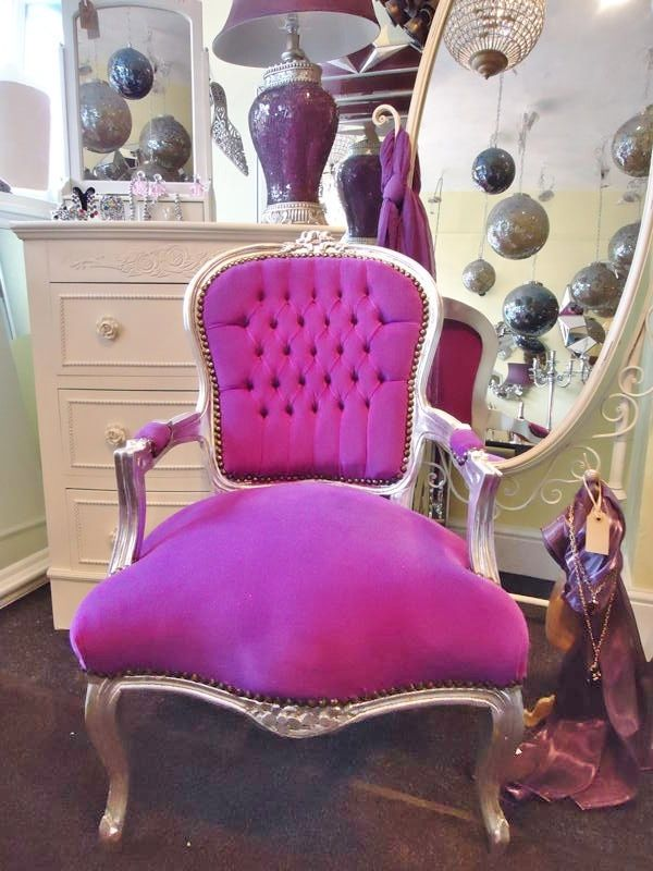 Purple Louis Chair Vintagevibe.co.uk | For The Home | Pinterest.