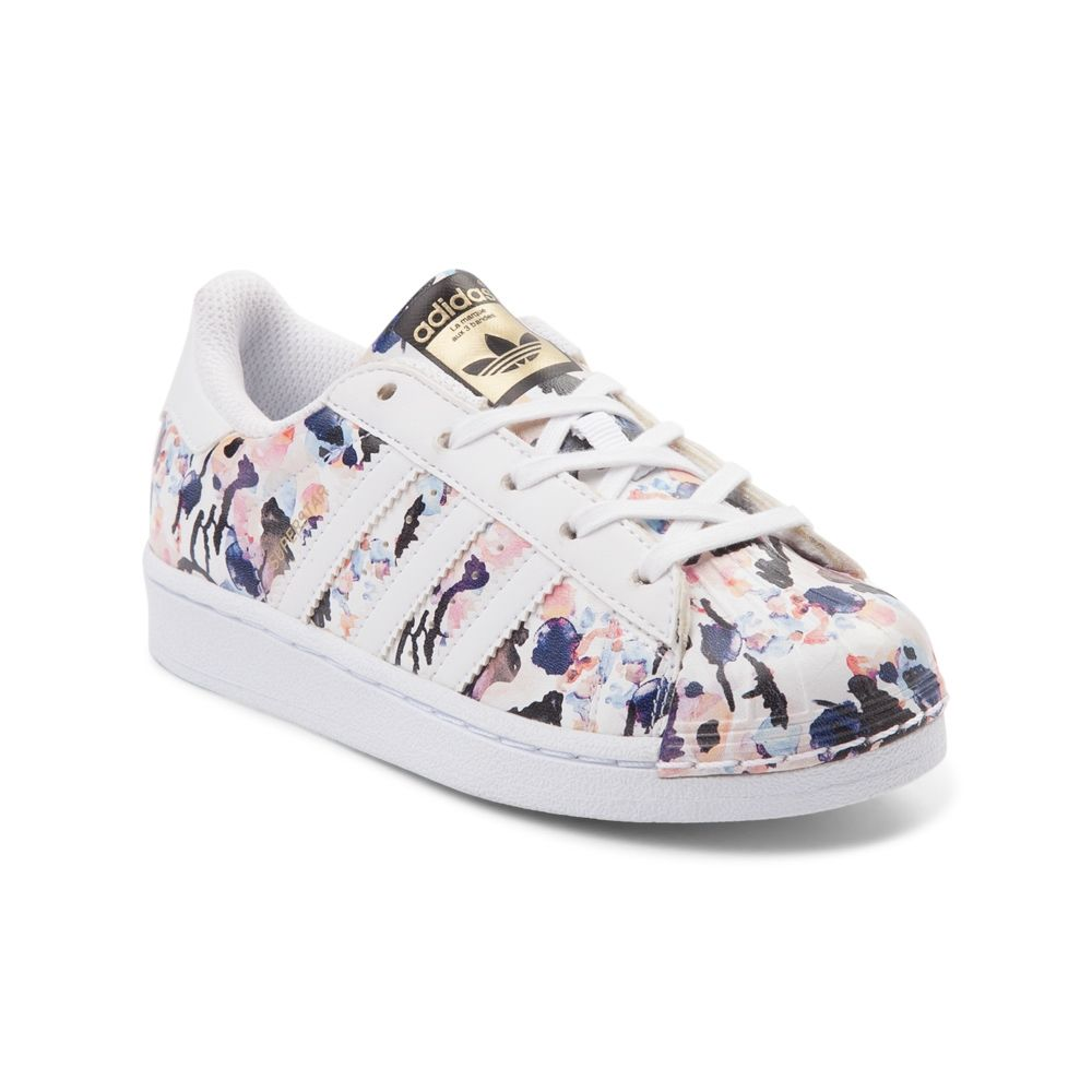 Youth adidas Superstar Floral Athletic Shoe