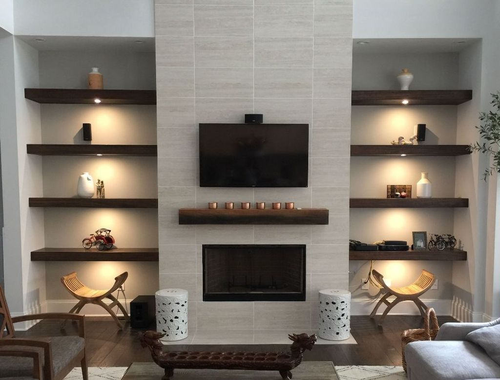 42 Relaxing Living Rooms Design Ideas With Fireplaces images