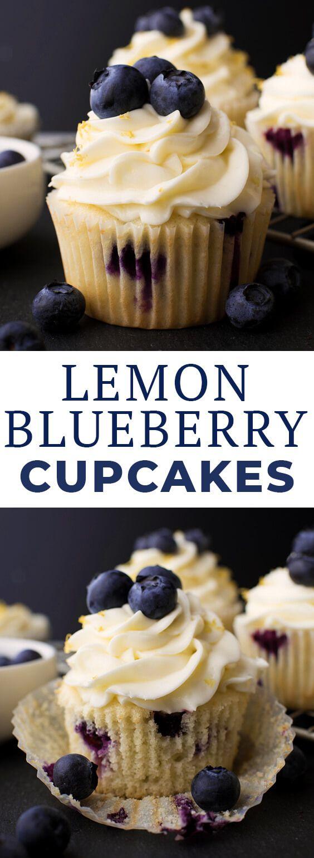 Lemon Blueberry Cupcakes #easydesserts