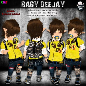 Second Life Marketplace - [S.K.] Baby Deejay MESH Outfit