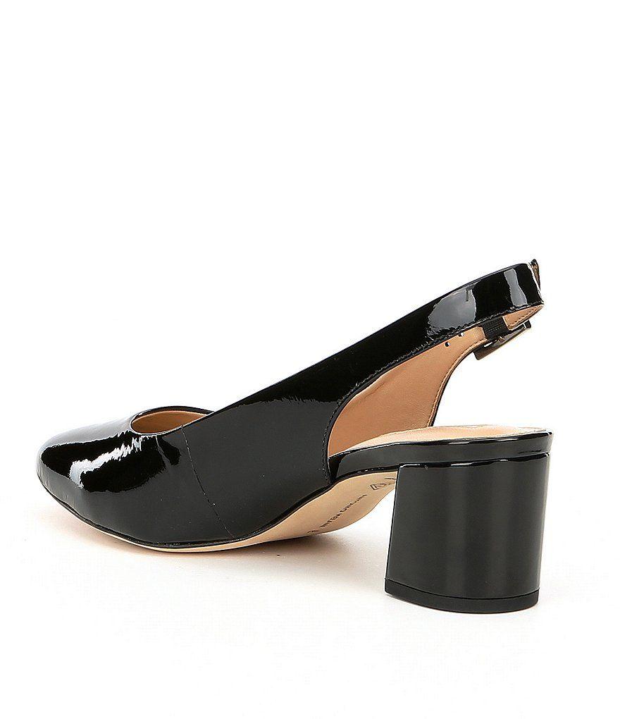 a77291bf2ec Antonio Melani Arian Patent Leather Slingback Block Heel Pumps ...