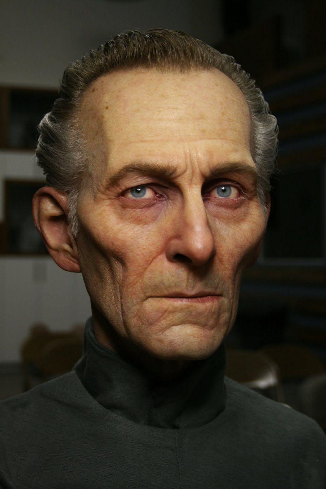 the insane skillz of Jordu Schell - Peter Cushing sculpt