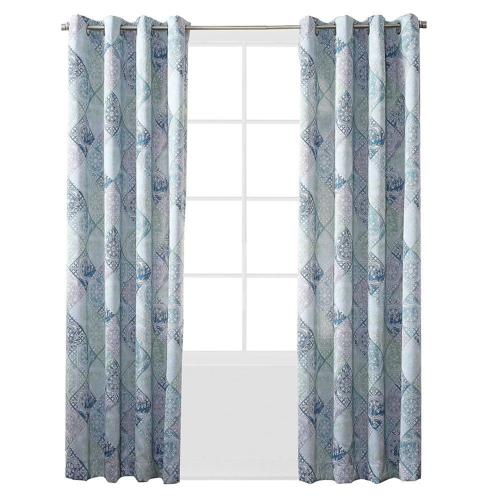 Sun Zero Jaffery Printed Medallion Room Darkening Curtain