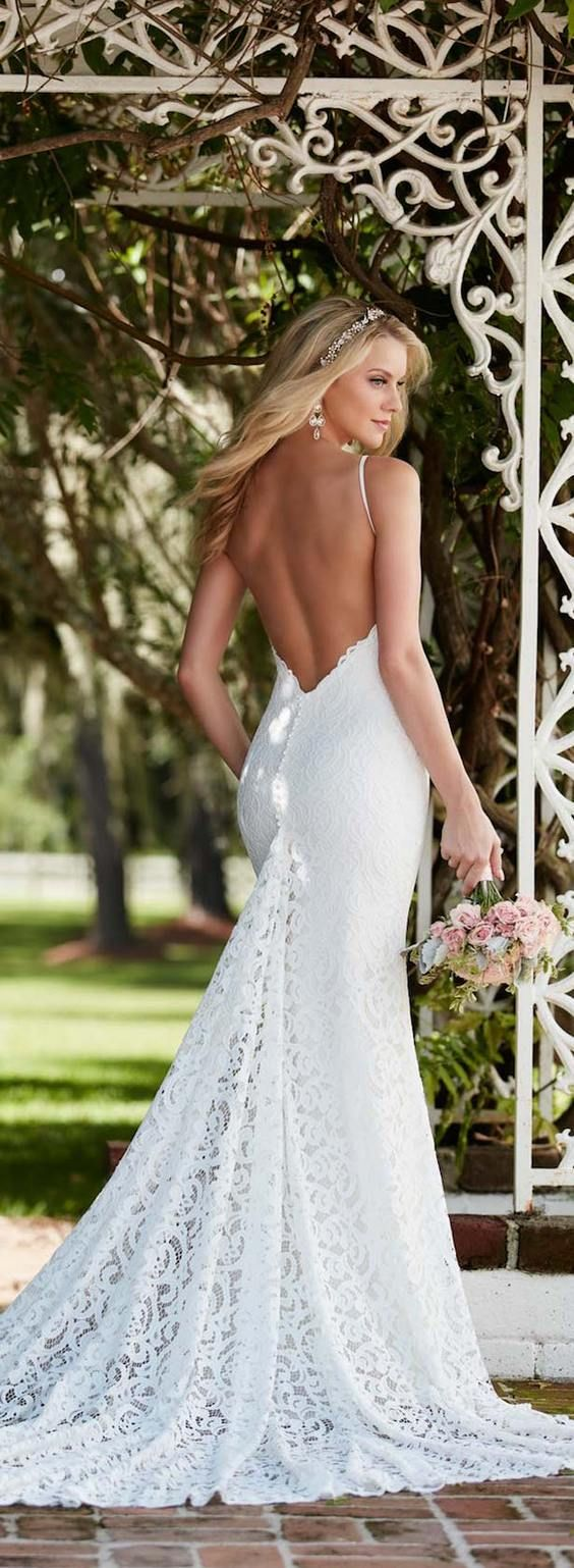 100 Open Back Wedding Dresses with Beautiful Details ...
