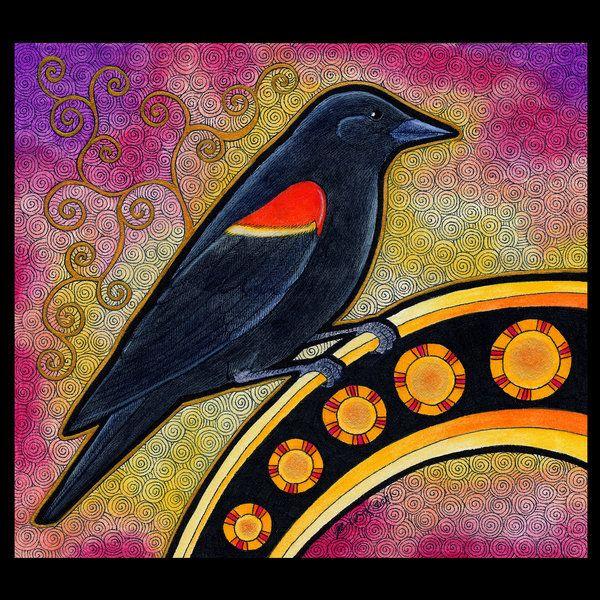 Red Winged Blackbird as Totem by Ravenari (print image)
