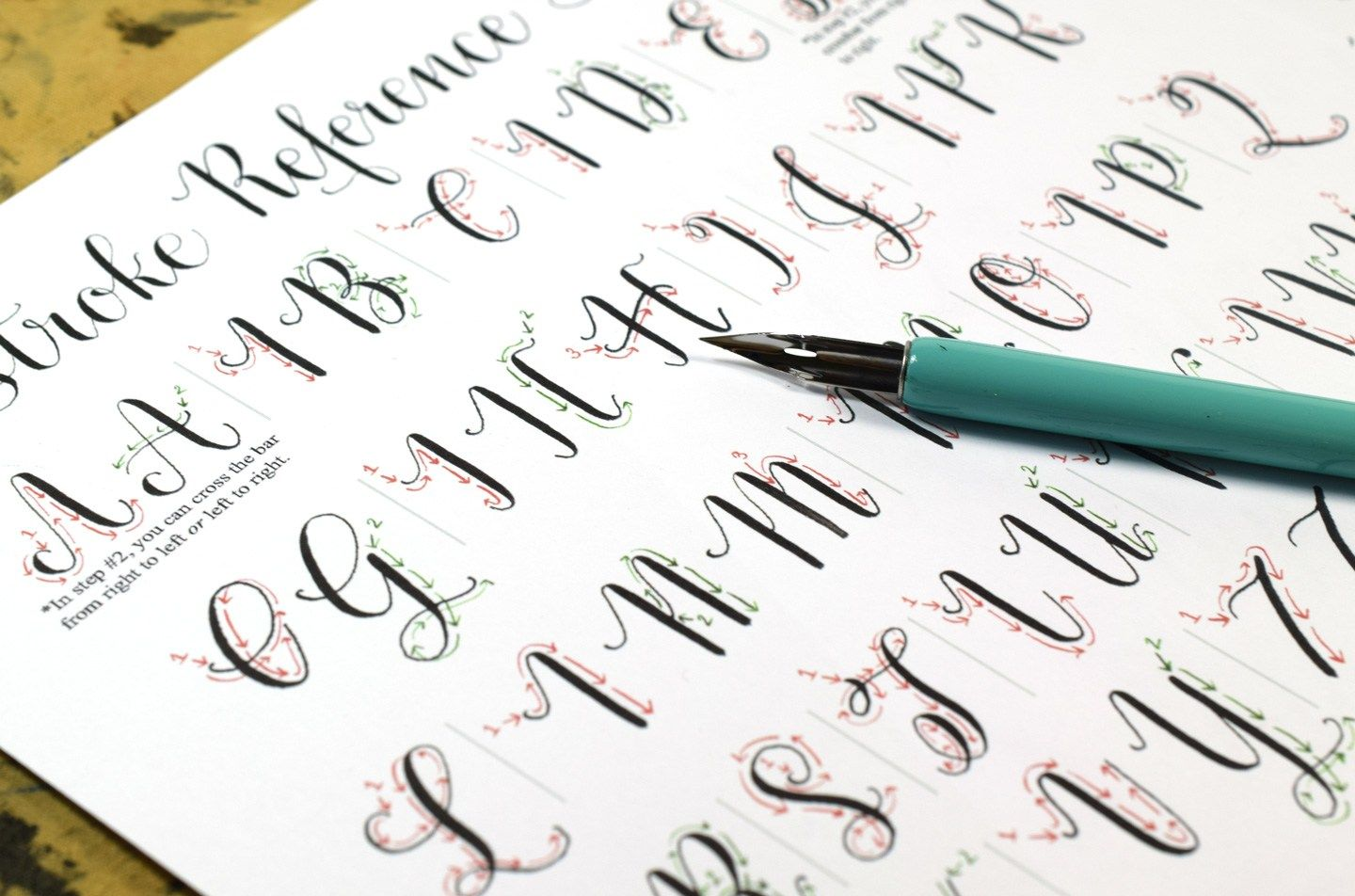 Introducing The New Amy Style Calligraphy Worksheet