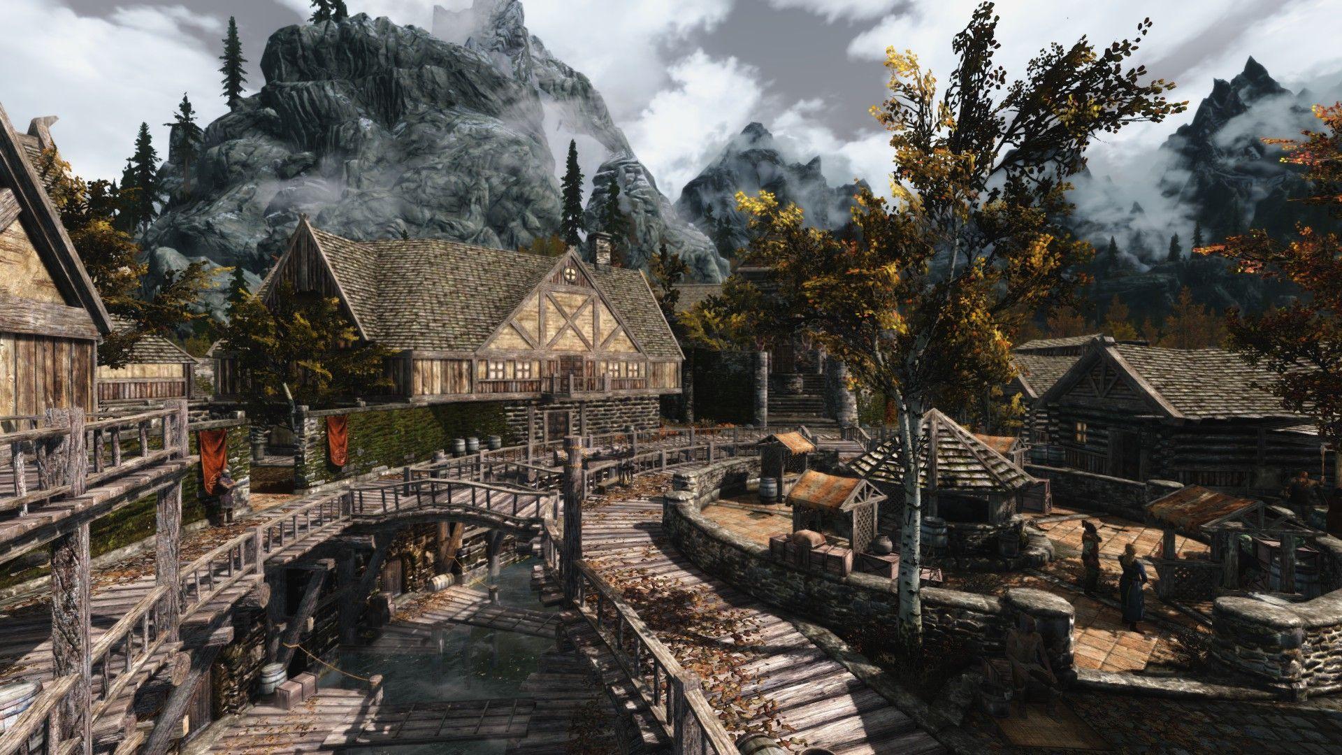 Autumn In Riften Wait Who Am I Kidding It S Always Autumn In Riften R Skyrim Elder Scrolls V Skyrim Elder Scrolls Skyrim Fantasy Landscape