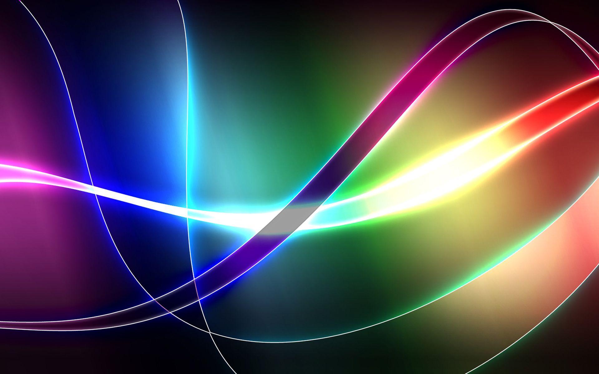 abstract cool colors shapes patterns shades texture cgi ribbons