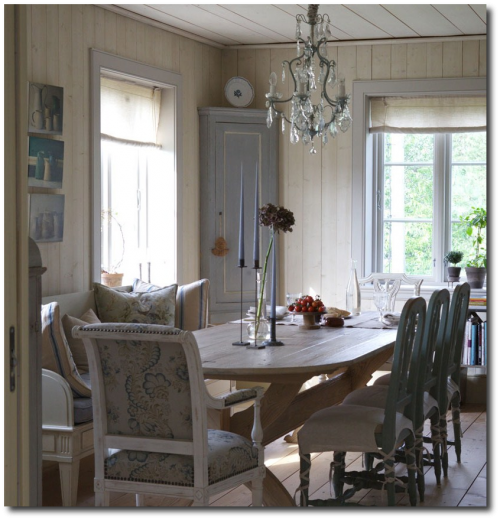 gustavian home3 500x520 3 rustic scandinavian country homes borrow ideas from norway and denmark. Black Bedroom Furniture Sets. Home Design Ideas