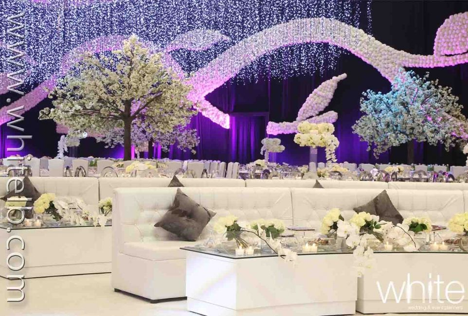 Blossom trees themed wedding in qatar kosha wedding stage blossom trees themed wedding in qatar junglespirit Images