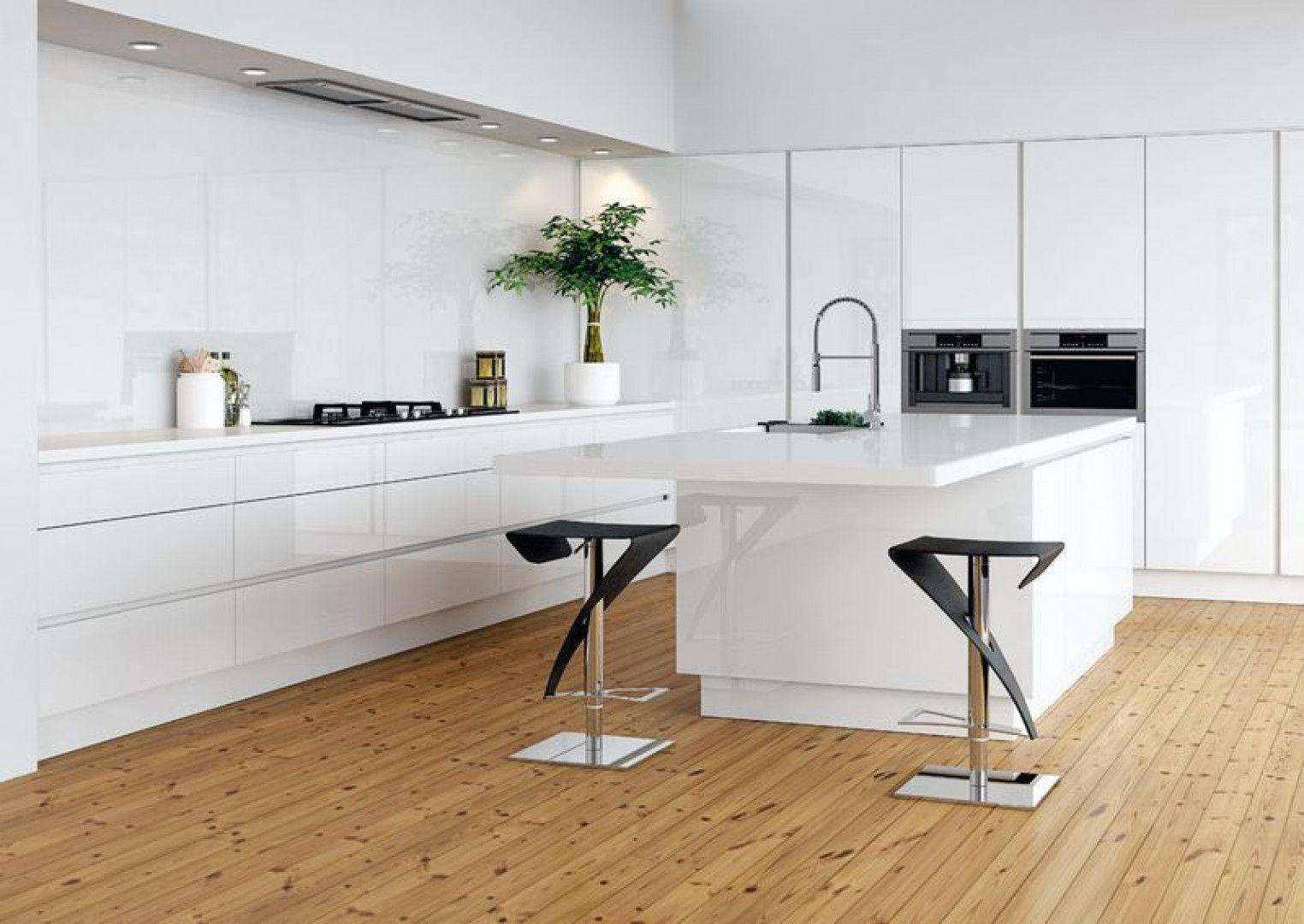 Linear select in gloss pure white | Linear Kitchen\'s | Pinterest ...