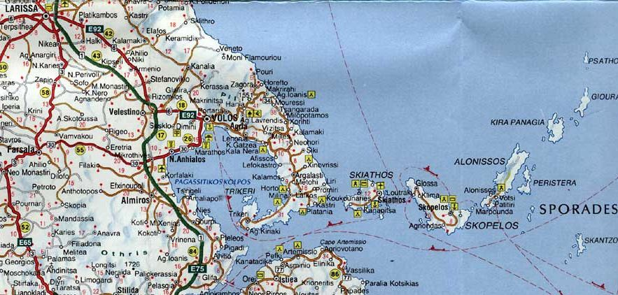 Where is Skiathos on map Skiathos is a green island with forests