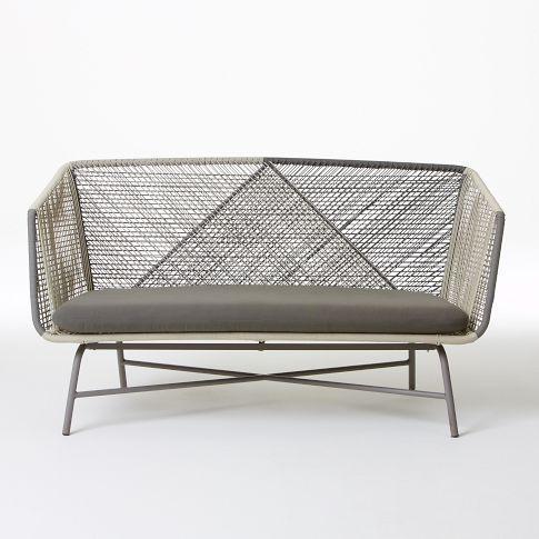 west elm huron outdoor sofa gray seal urban backyards outdoor spaces sofa furniture. Black Bedroom Furniture Sets. Home Design Ideas