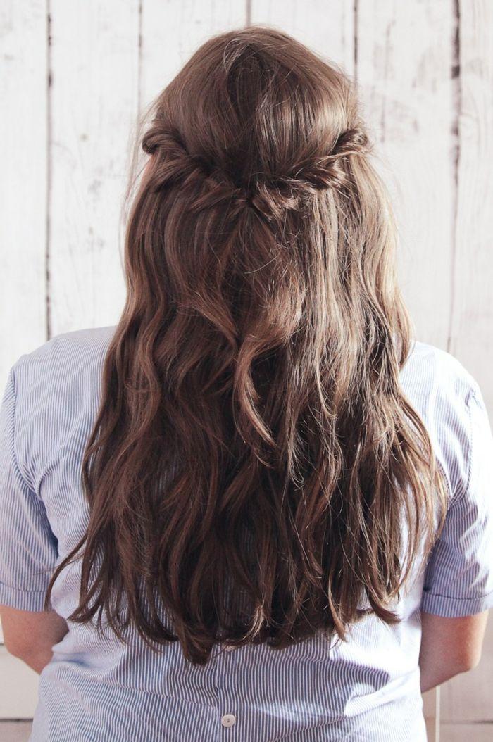 1001 ideas de semirecogidos bellos y opriginales con - Peinados de fiesta cabello largo ...