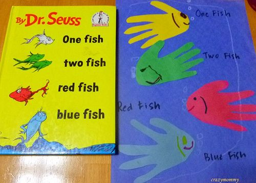 One Fish Blue Fish Activity Dr Seuss Craft Thing 1