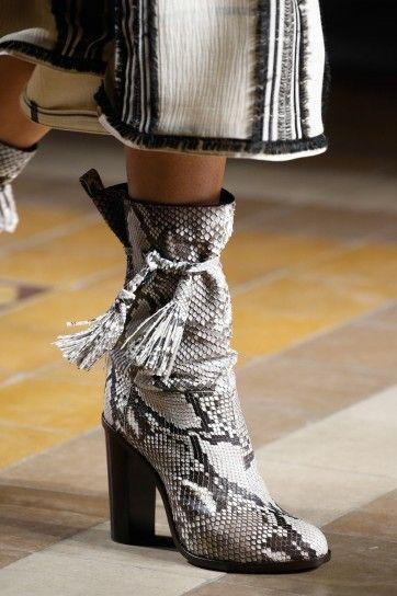 Stivali in pitone Lanvin