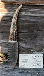 buffalo river TN blade knife antler handle flint knapped custom stone knife knives