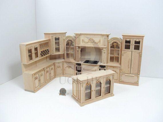 1:12 Scale Oak Colour Shop Display Counter Dolls House Miniature Accessory