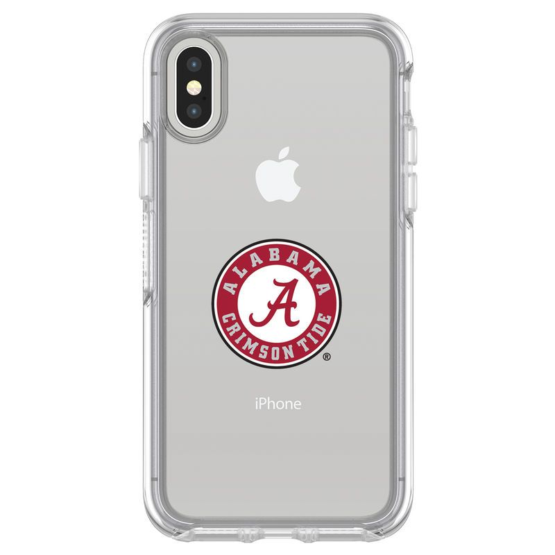 Alabama Crimson Tide Otterbox Iphone X Clear Symmetry Case