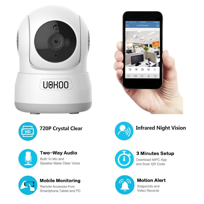 Wireless IP Camera, UOKOO 720P HD Home WiFi Wireless