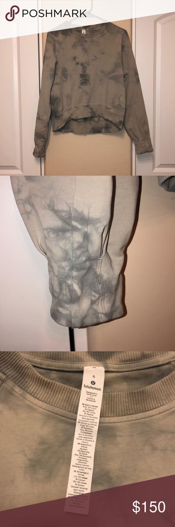 Lululemon Tie Dye Crew Neck Sweatshirt 6 Nwot Lulu Lululemon Tie Dye Shabori Style Crew Neck Sweat Shir Crew Neck Sweatshirt Clothes Design Two Piece Skirt Set [ 1740 x 580 Pixel ]