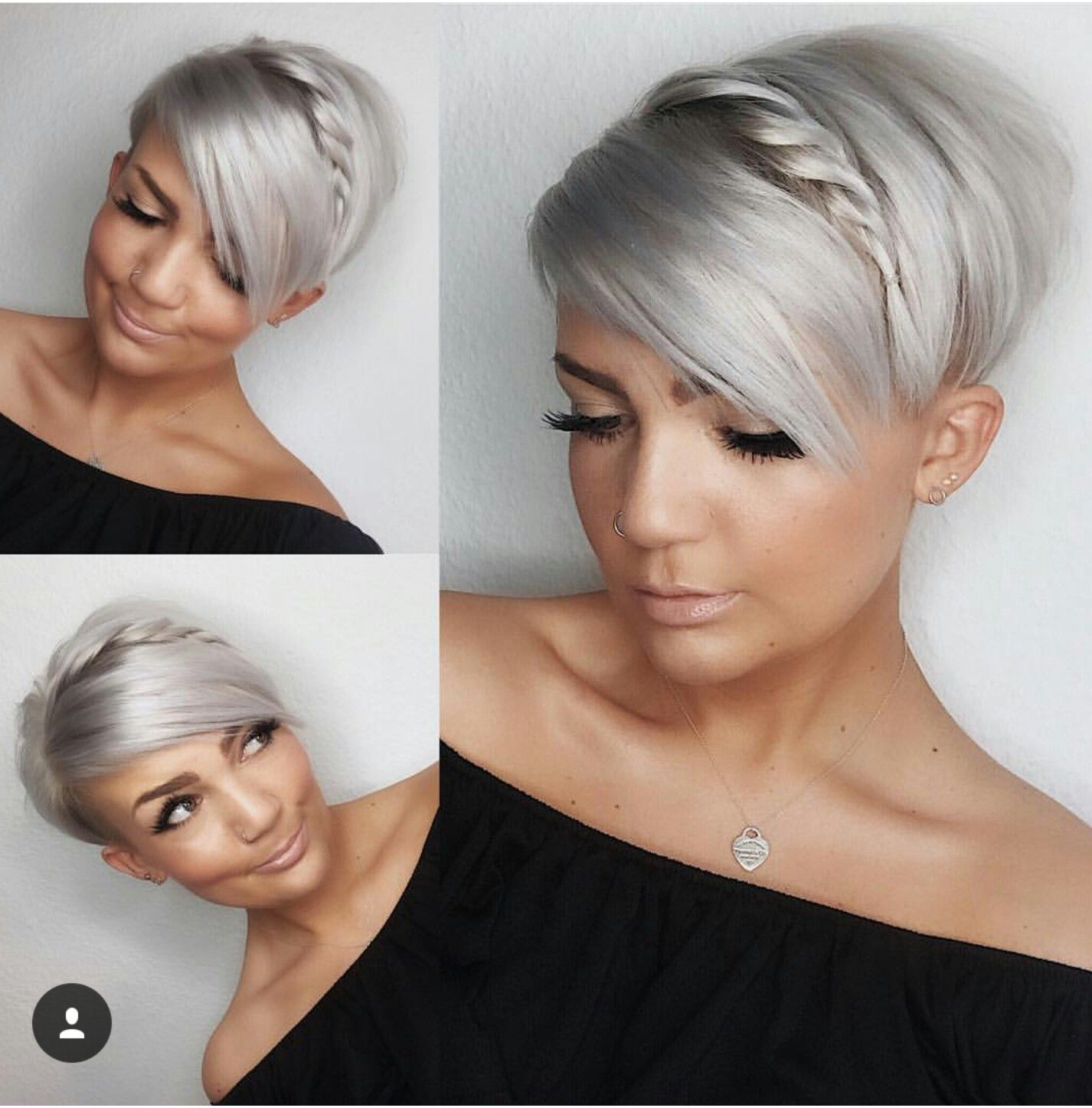 Photo of Hübsche Stylingidee für einen Long-Pixie #braidsformen Hübsc…