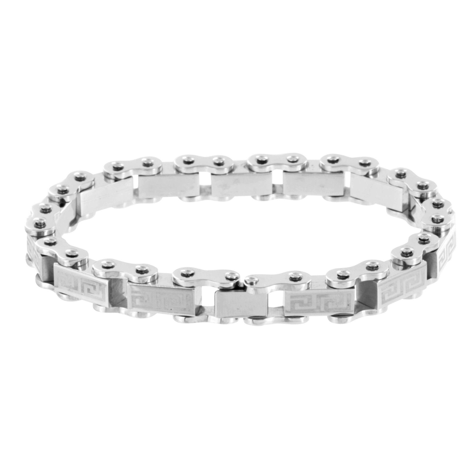 Stainless steel mens bracelet motorbike chain link designer