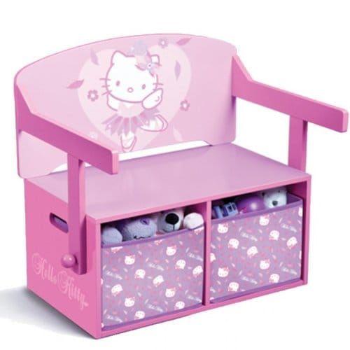 Delta TT 89449 Hello Kitty Tisch 60 x 60 cm Plus 2 Stühle, MDF