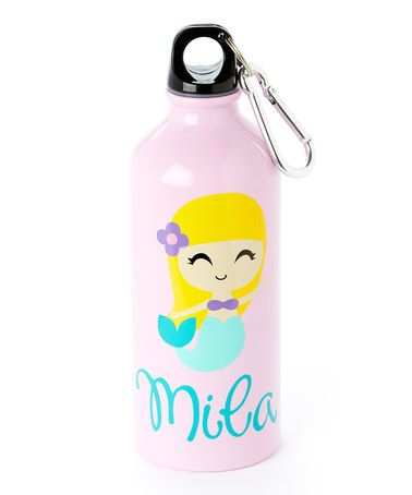 Pink Blonde Mermaid Personalized 20-Oz. Water Bottle #zulily #zulilyfinds