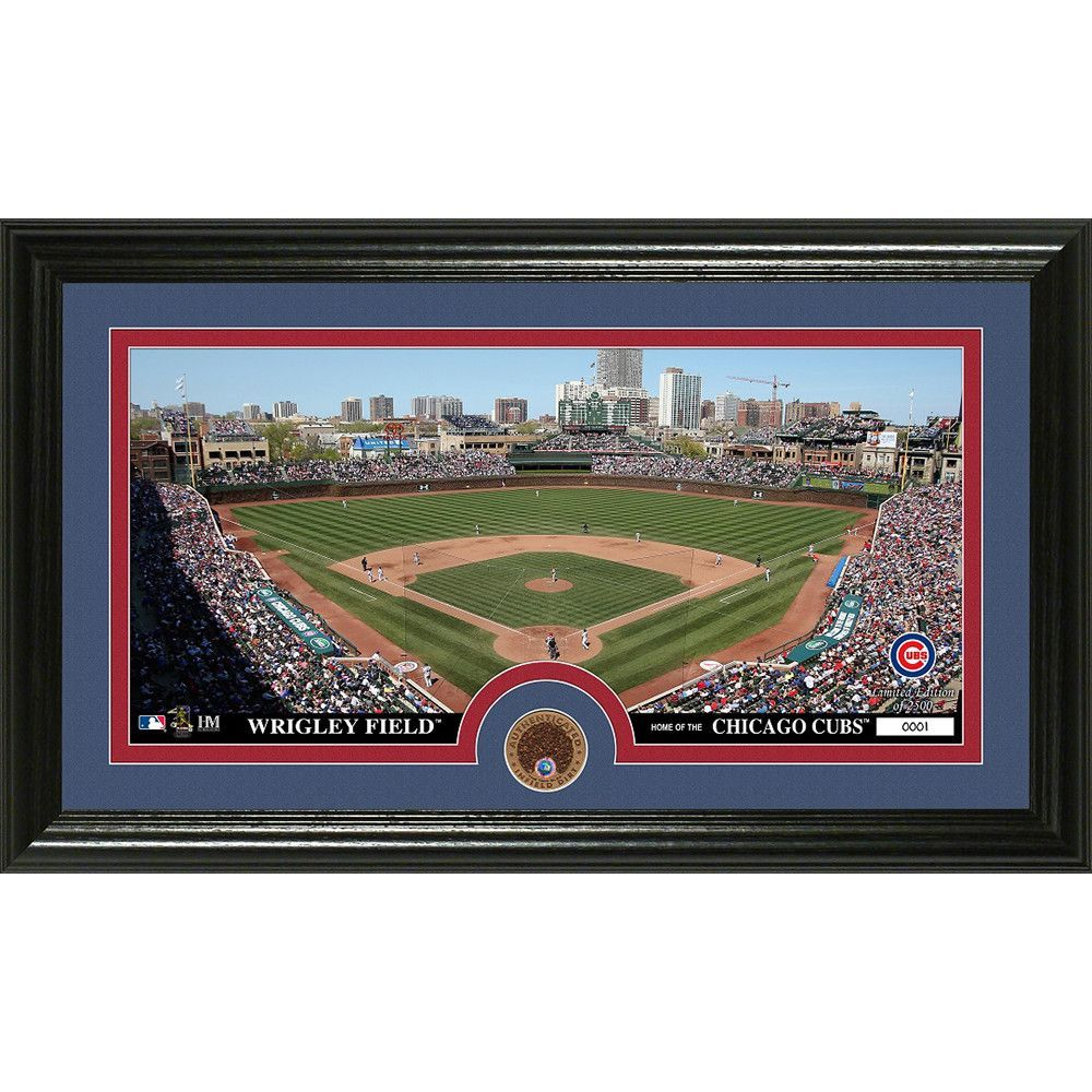 Chicago Cubs Infield Dirt Coin Panoramic Photo Mint Panoramic Photo Chicago Cubs Minnesota Twins