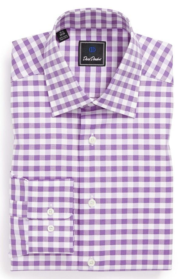 David Donahue Regular Fit Gingham Dress Shirt Nordstrom