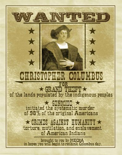 wanted christopher columbus flyer thanksgiving halloween wanted christopher columbus flyer