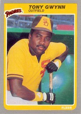 1985 Fleer Tony Gwynn 34 Baseball Card Sport Cards Baseball