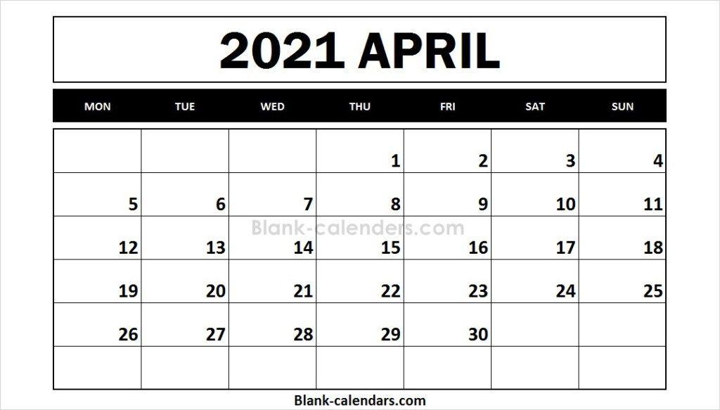 Free Printable 2021 Calendar April 2021 Calendar October