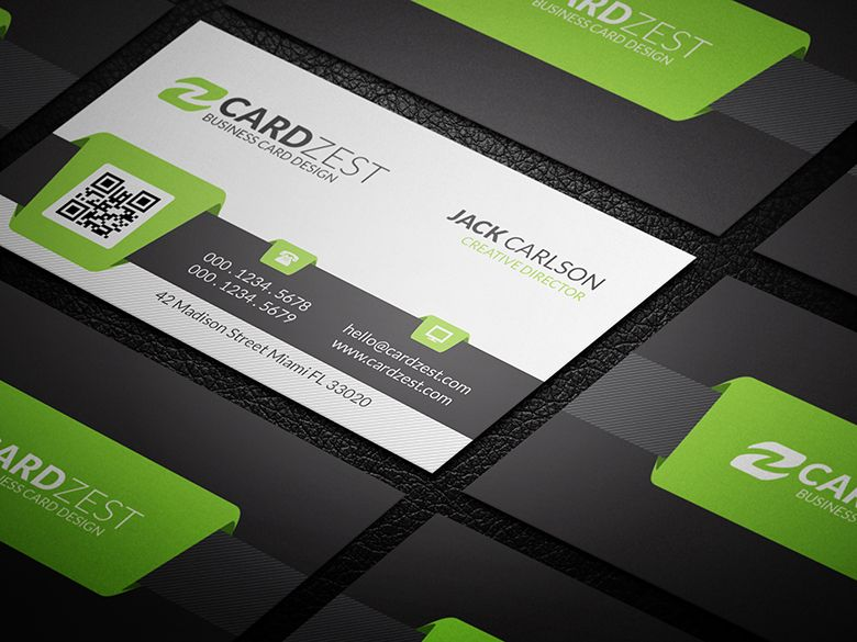Download httpcardzestmodern green qr code business card free business cards fbccfo Image collections