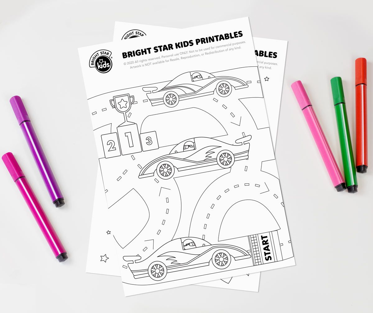 Race Cars Colouring In Printable In