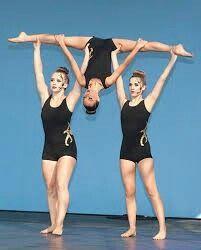 pinangelique faul on dance  gymnastics poses partner