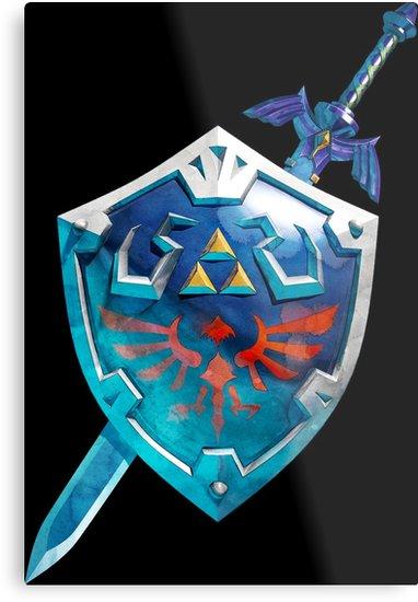 Link S Master Sword Et Hylian Shield De La Serie The Legend Of Zelda Decouvrez Des Millions D œuvres Originales Imagin Zelda Birthday Legend Of Zelda Sword