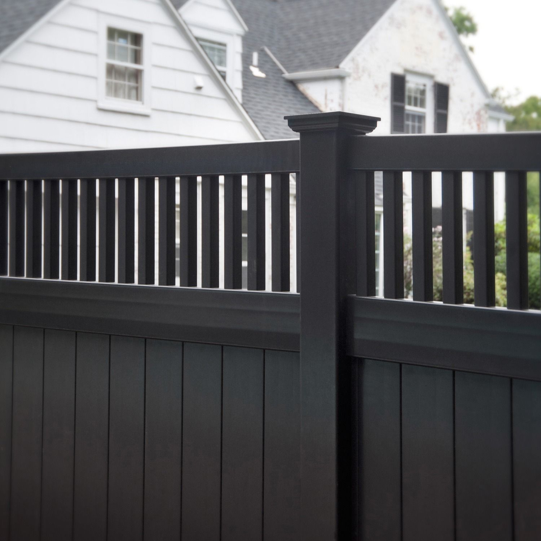 black vinyl privacy fence. Illusions Black Vinyl Pvc Privacy Matte Finish Fencing Panels 5 Fence