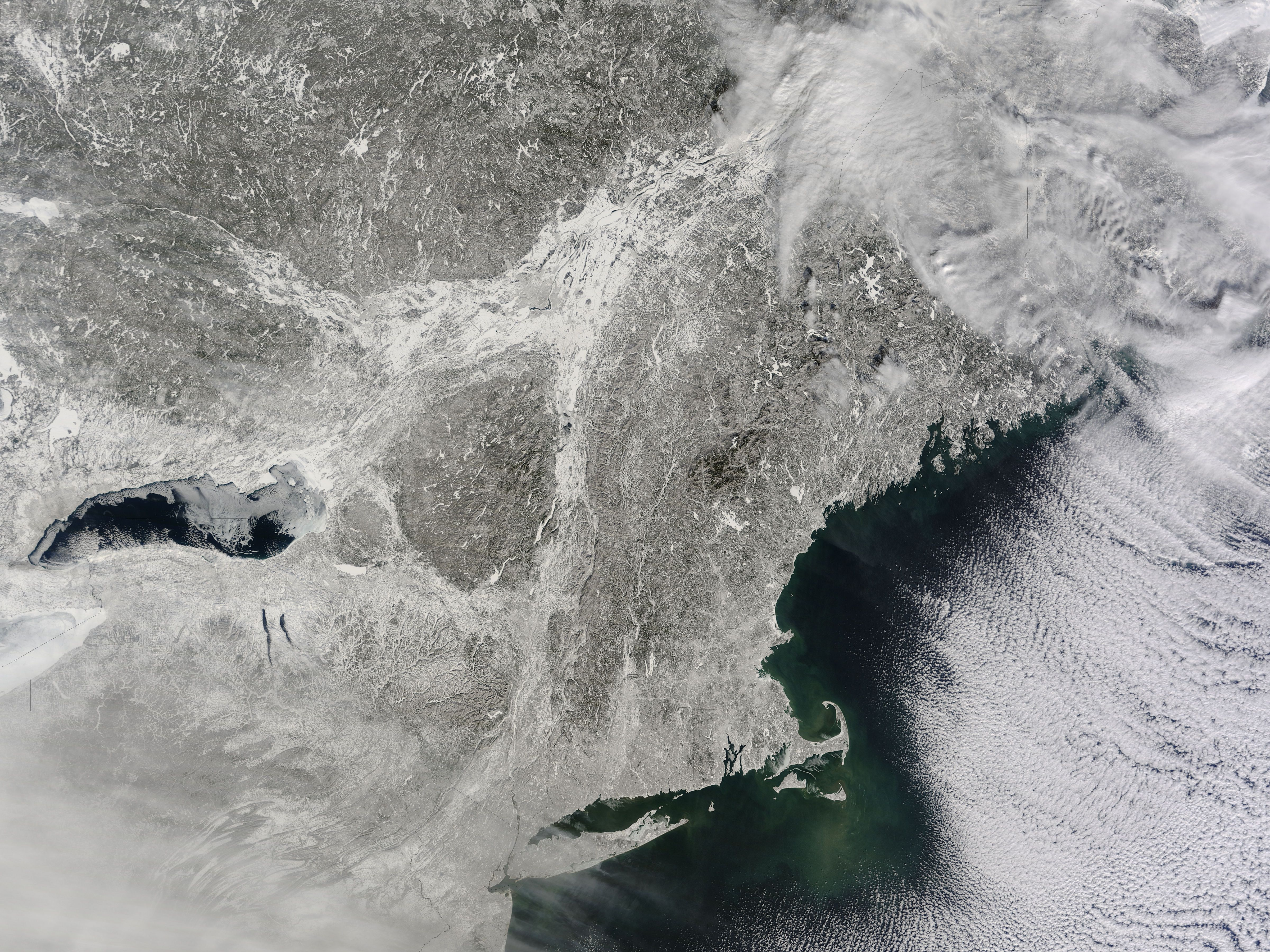 Snow Covered Northeastern United States Snow Covered Northeastern United