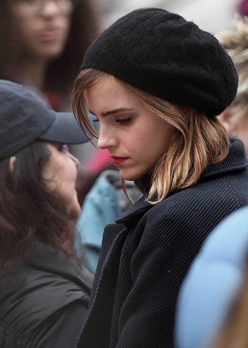Emma Watson at the Women's March in Washington, DC